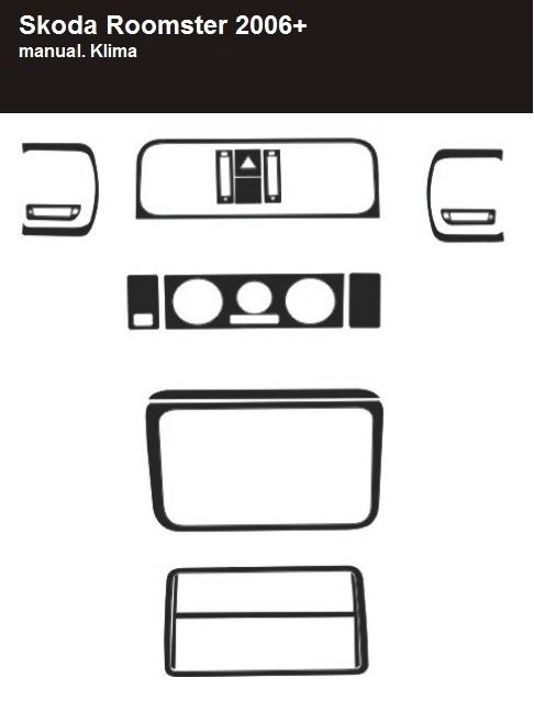 armatur cockpit dekor f r skoda roomster 2006 kaufen bei. Black Bedroom Furniture Sets. Home Design Ideas