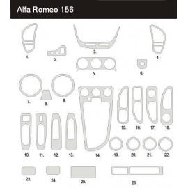 Dekor interiéru Alfa Romeo 156 1997-2007