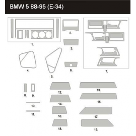 Dekor interiéru BMW E34 1988-1996