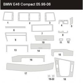 Dekor interiéru BMW E46 Compact 2001-