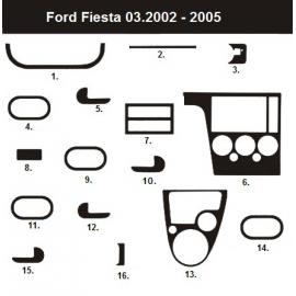 Dekor interiéru Ford Fiesta MK6 2002-2008