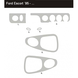 Dekor interiéru Ford Escort 1995-