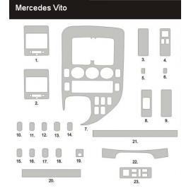 Dekor interiéru Mercedes Vito W638 1996-1999