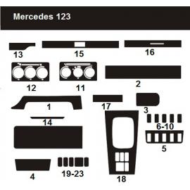 Dekor interiéru Mercedes W123 1976-1986