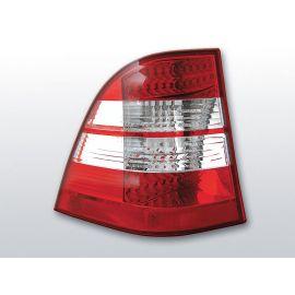 Zadní světla LedkovéMERCEDES W163 ML M-KLASA 03.98-05 RED WHITE LED