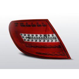 Zadní světla LedkovéMERCEDES C-KLASA W204 SEDAN 07-10 RED WHITE LED BAR