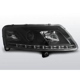 Přední světlaAUDI A6 C6 04.04-08 DRU DRL R87 BLACK H7