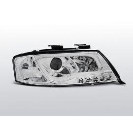 Přední světlaAUDI A6 06.01-05.04 LED TUBE LIGHTS CHROM