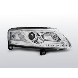 Přední světlaAUDI A6 C6 04-08 XENON TUBE LIGHTS homologace DRL R87 CHROM