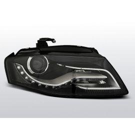 Přední světlaAUDI A4 B8 04.08- 11 homologace DRL R87 BLACK
