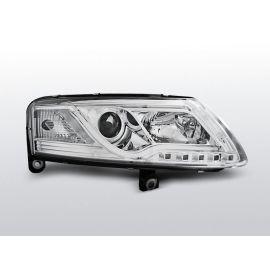Přední světlaAUDI A6 C6 04.04-08 LED TUBE LIGHTS TRUE DRL R87 CHROM