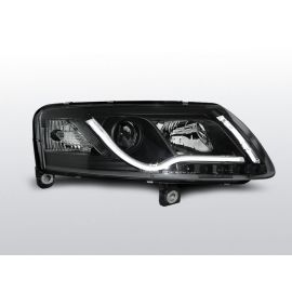 Přední světlaAUDI A6 C6 04.04-08 LED TUBE LIGHTS TRUE DRL R87 BLACK