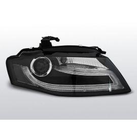 Přední světlaAUDI A4 B8 04.08-11 homologace DRL R87 BLACK