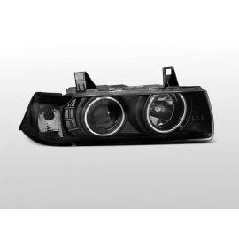 Přední světlaBMW E36 12.90-08.99 C/C ANGEL EYES BLACK