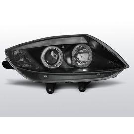 Přední světlaBMW Z4 E85 E86 02-08 ANGEL EYES BLACK