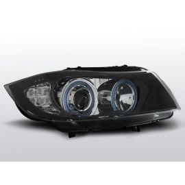 Přední světlaBMW E90/E91 03.05-08.08 ANGEL EYES BLACK LED INDICATOR