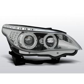 Přední světlaBMW E60/E61 03-07 ANGEL EYES CHROM LED INDIC.