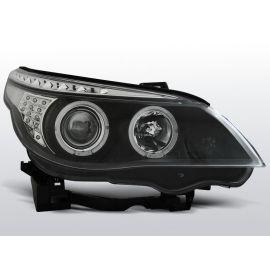Přední světlaBMW E60/E61 03-07 ANGEL EYES BLACK LED INDIC.