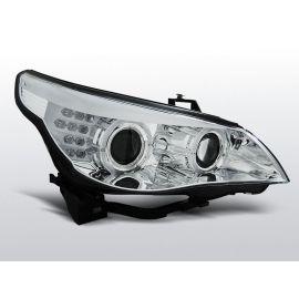 Přední světlaBMW E60/E61 03-07 CHROM LED INDIC.