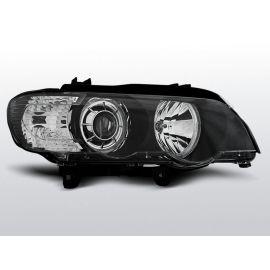 Přední světlaBMW X5 E53 09.99-10.03 LED ANGEL EYES BLACK