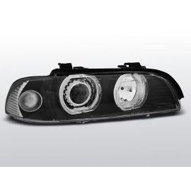 Přední světlaBMW E39 09.95-06.03 ANGEL EYES LED H7/H7 BLACK
