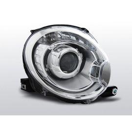 Přední světlaFIAT 500 07- PROJEKTOR CHROM