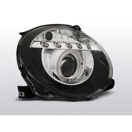 Přední světlaFIAT 500 07- PROJEKTOR BLACK LED