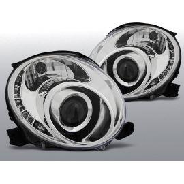 Přední světlaFIAT 500 07- CHROM LED