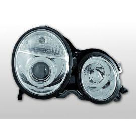 Přední světlaMERCEDES W210 E-KLASA 06.99-02 ANGEL EYES CHROM