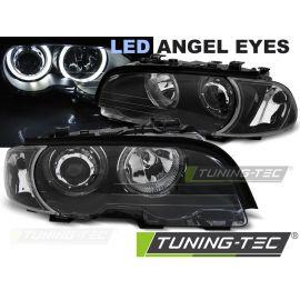 Přední světla BMW E46 04.99-03.03 COUPE CABRIO ANGEL EYES LED BLACK