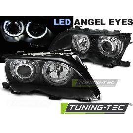 Přední světla BMW E46 09.01-03.05 ANGEL EYES LED BLACK