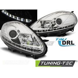 Přední světla FIAT PUNTO EVO 10.09-12 CHROM DRL LED