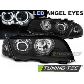 LAMPY PRZEDNIE BMW E46 05.98-08.01 S/T ANGEL EYES LED BLACK