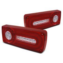 Zadní světla MERCEDES W463 G-KLASA 86-12 RED WHITE LED