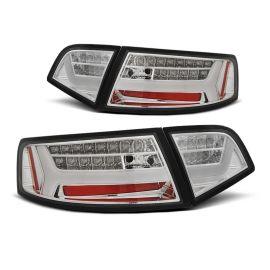 Zadní světla Ledkové AUDI A6 08-11 SEDAN CHROME LED BAR SEQ