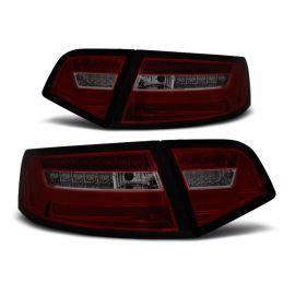 Zadní světla Ledkové AUDI A6 08-11 SEDAN RED SMOKE LED BAR SEQ